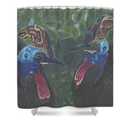 Strange Birds Shower Curtain