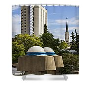 Strange Buenos Aires Architecture Shower Curtain