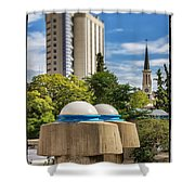 Strange Buenos Aires Architecture Tilt Shift Shower Curtain