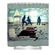 Strangeways Prison Riots Uk.1990s Shower Curtain