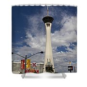 Stratosphere Tower In Las Vegas Shower Curtain