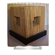 Straw Cube Shower Curtain by Daniel P Cronin