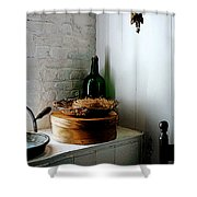 Straw Hat And Hat Box Shower Curtain