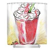 Strawberries And Cream Shower Curtain