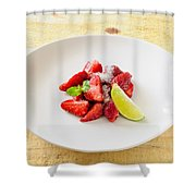 Strawberries With Lime And Mint Shower Curtain
