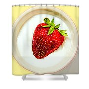 Strawberry And Cream Shower Curtain