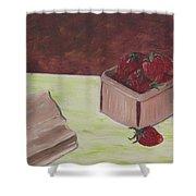 Strawberry Basket Shower Curtain