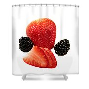 Strawberry Blackberry Shower Curtain