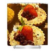 Strawberry Blueberry Tarts Shower Curtain