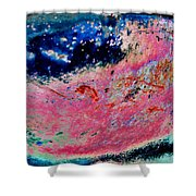 Strawberry Blueberry Universe Shower Curtain