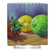 Strawberry Citrus Shower Curtain