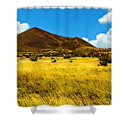 Strawberry Crater  Sunset Wupatki National Monument Shower Curtain