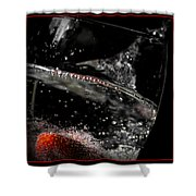 Strawberry Fizz Shower Curtain