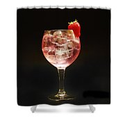 Strawberry Gintonic Shower Curtain