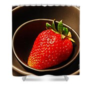 Strawberry In Nested Bowls Shower Curtain