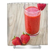 Strawberry Juice Shower Curtain