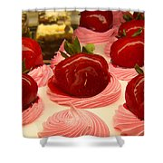 Strawberry Mousse Shower Curtain