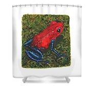 Strawberry Poison Dart Frog Shower Curtain