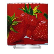 Strawberry Red Shower Curtain