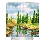 Strawberry Reservoir 2 Shower Curtain