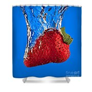 Strawberry Slam Dunk Shower Curtain by Susan Candelario
