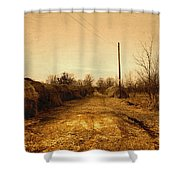 Strawmill Road Shower Curtain