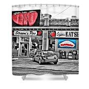 Strawn's Eat Shop Shower Curtain