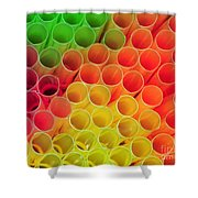 Straws In Color Shower Curtain