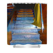 Stray Breeze On The Stairs Shower Curtain
