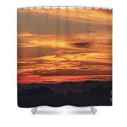Streaks Above The Clouds Shower Curtain