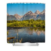 Stream At The Tetons Shower Curtain