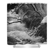 Stream Cascades Over Small Dam Shower Curtain
