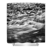 Stream Fall Colors Great Smoky Mountains Painted Bw  Shower Curtain