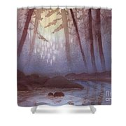 Stream In Mist Shower Curtain