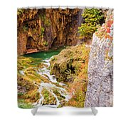 Stream In The Mountains Shower Curtain