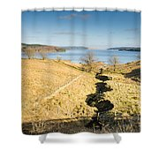 Stream To Kielder Water Shower Curtain