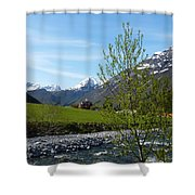 Stream To The Fjord Shower Curtain