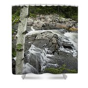 Stream With Waterfall In Vermont Shower Curtain