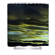 Streaming Clouds  Shower Curtain