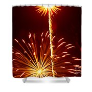 Streaming Fireworks Shower Curtain