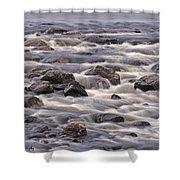 Streaming Rocks Shower Curtain