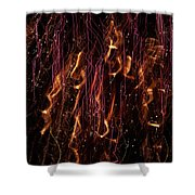 Streams Of Gold And Purple Shower Curtain