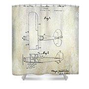 1929 Stearman Patent Drawing Shower Curtain