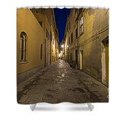 Street Alley By Night Shower Curtain