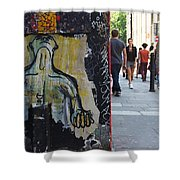 Street Art And Street Scene London Shower Curtain