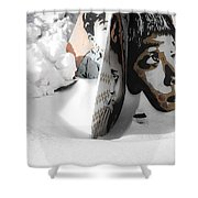 Street Art In The Snow Shower Curtain
