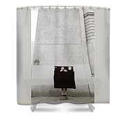 Paris Surrealism Shower Curtain