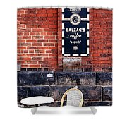 Street Cafe Shower Curtain by Valentino Visentini