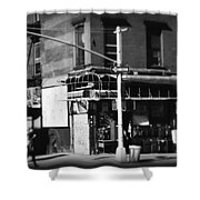 Street Corner - Horizontal Shower Curtain
