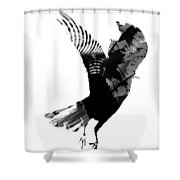 Street Crow Shower Curtain
